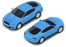 Διανυσματικός isometric υψηλός - ποιοτικό σπορ αυτοκίνητο Εικονίδιο μεταφορών Στοκ Εικόνα