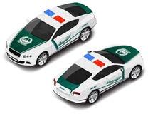 Διανυσματικός isometric υψηλός - σπορ αυτοκίνητο ποιοτικής αστυνομίας Εικονίδιο αστυνομίας Μετάφραση κειμένου Στοκ εικόνες με δικαίωμα ελεύθερης χρήσης