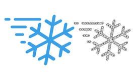 Διανυσματικός Polygonal αέρας παγετού πλέγματος και επίπεδο εικονίδιο απεικόνιση αποθεμάτων