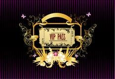 διανυσματικός VIP περασμάτ&omeg στοκ φωτογραφία με δικαίωμα ελεύθερης χρήσης