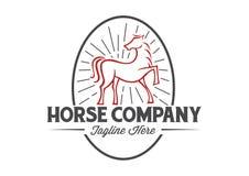 Διανυσματικό άλογο διανυσματική απεικόνιση