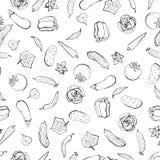 Διανυσματικό άνευ ραφής αναδρομικό σχέδιο του vegeta blesblack και του άσπρου σκίτσου Μπορέστε να χρησιμοποιηθείτε για το υπόβαθρ Στοκ φωτογραφία με δικαίωμα ελεύθερης χρήσης
