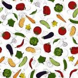 Διανυσματικό άνευ ραφής αναδρομικό σχέδιο των λαχανικών Μπορέστε να χρησιμοποιηθείτε για το υπόβαθρο ιστοσελίδας, γεμίζει τα σχέδ Στοκ φωτογραφία με δικαίωμα ελεύθερης χρήσης