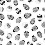 Διανυσματικό άνευ ραφής απλό σχέδιο με το αυγό Πάσχας στο άσπρο υπόβαθρο Υπόβαθρο διακοπών Πάσχας των αυγών doodle ελεύθερη απεικόνιση δικαιώματος