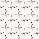 Διανυσματικό άνευ ραφής γεωμετρικό σχέδιο των σημείων Στοκ Φωτογραφίες