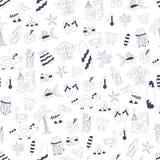 Διανυσματικό άνευ ραφής θερινό σχέδιο doodle Στοκ φωτογραφία με δικαίωμα ελεύθερης χρήσης