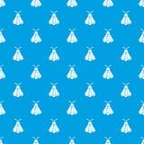 Διανυσματικό άνευ ραφής μπλε σχεδίων πεταλούδων διανυσματική απεικόνιση