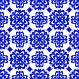 Διανυσματικό άνευ ραφής μπλε υπόβαθρο διακοσμήσεων Στοκ φωτογραφία με δικαίωμα ελεύθερης χρήσης