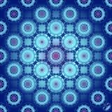 Διανυσματικό άνευ ραφής μπλε υπόβαθρο διακοσμήσεων Στοκ Εικόνες