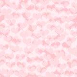 Διανυσματικό άνευ ραφής πρότυπο με τις καρδιές Στοκ φωτογραφία με δικαίωμα ελεύθερης χρήσης