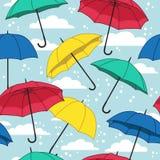Διανυσματικό άνευ ραφής πρότυπο με τις ομπρέλες Στοκ εικόνα με δικαίωμα ελεύθερης χρήσης