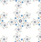 Διανυσματικό άνευ ραφής πρότυπο λουλουδιών Στοκ εικόνες με δικαίωμα ελεύθερης χρήσης