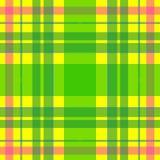 Διανυσματικό άνευ ραφής σκωτσέζικο σχέδιο ταρτάν στο κίτρινο, πράσινο, ροζ Βρετανικό ή ιρλανδικό κελτικό σχέδιο για το κλωστοϋφαν Στοκ Φωτογραφίες