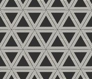 Διανυσματικό άνευ ραφής σχέδιο γραμμών Σύγχρονη μοντέρνη σύσταση μορφών τριγώνων Επανάληψη των γεωμετρικών κεραμιδιών στοκ φωτογραφίες