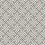 Διανυσματικό άνευ ραφής σχέδιο δικτυωτού πλέγματος Σύγχρονη μοντέρνη σύσταση με μονοχρωματικό trellis Επανάληψη του γεωμετρικού π Στοκ Φωτογραφίες
