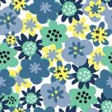 Διανυσματικό άνευ ραφής άνευ ραφής σχέδιο λουλουδιών υποβάθρου σχεδίων Υπόβαθρο μαργαριτών διανυσματική απεικόνιση