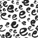 Διανυσματικό άνευ ραφής σχέδιο με τα γράμματα Ε καλλιγραφίας Στοκ Εικόνα