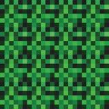 Διανυσματικό άνευ ραφής σχέδιο με τα πράσινα εικονοκύτταρα απεικόνιση αποθεμάτων