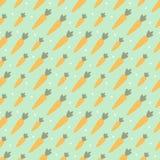 Διανυσματικό άνευ ραφής σχέδιο με τα χαριτωμένα καρότα και τα σημεία Στοκ φωτογραφία με δικαίωμα ελεύθερης χρήσης