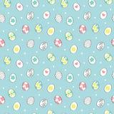 Διανυσματικό άνευ ραφής σχέδιο με τα χρωματισμένα αυγά Πάσχας Στοκ φωτογραφία με δικαίωμα ελεύθερης χρήσης
