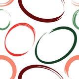 Διανυσματικό άνευ ραφής σχέδιο με τους ζωηρόχρωμους συρμένους χέρι κύκλους απεικόνιση αποθεμάτων