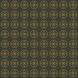 Διανυσματικό άνευ ραφής σχέδιο των αφηρημένων λουλουδιών στο κομψό ύφος απεικόνιση αποθεμάτων