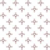 Διανυσματικό άνευ ραφής σχέδιο των διακοσμητικών καρδιών σχεδίων χεριών στο μινιμαλιστικό ύφος ελεύθερη απεικόνιση δικαιώματος