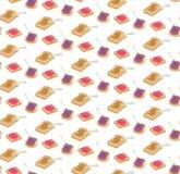 Διανυσματικό άνευ ραφής σχέδιο φρυγανιών ζελατίνας και φυστικοβουτύρου διανυσματική απεικόνιση