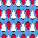 Διανυσματικό άνευ ραφής σχέδιο Χριστουγέννων διανυσματική απεικόνιση