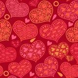 Διανυσματικό άνευ ραφής σχέδιο αγάπης και ημέρας βαλεντίνων με τις καρδιές στο ρ Στοκ φωτογραφία με δικαίωμα ελεύθερης χρήσης