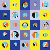 Διανυσματικό άνευ ραφής σχέδιο αλφάβητου Στοκ Φωτογραφία