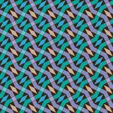 Διανυσματικό άνευ ραφής σχέδιο γρίφων Χρωματισμένος επαναλαμβάνοντας το γεωμετρικό κεραμίδι Στοκ φωτογραφία με δικαίωμα ελεύθερης χρήσης