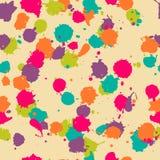 Διανυσματικό άνευ ραφής σχέδιο λεκέδων στα psychedelic χρώματα Στοκ Εικόνα