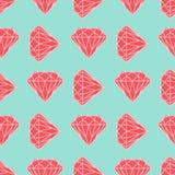 Διανυσματικό άνευ ραφής σχέδιο διαμαντιών ή κρυστάλλου Στοκ εικόνα με δικαίωμα ελεύθερης χρήσης
