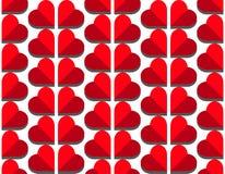 Διανυσματικό άνευ ραφής σχέδιο καρδιών στο άσπρο υπόβαθρο, απεικόνιση γραφική για την ημέρα βαλεντίνων ` s, ημέρα μητέρων, κάρτα  στοκ φωτογραφίες
