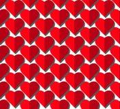 Διανυσματικό άνευ ραφής σχέδιο καρδιών στο άσπρο υπόβαθρο, απεικόνιση γραφική για την ημέρα βαλεντίνων ` s, ημέρα μητέρων, κάρτα  στοκ εικόνα