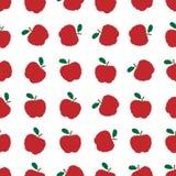 Διανυσματικό άνευ ραφής σχέδιο μήλων εικονοκυττάρου Στοκ εικόνα με δικαίωμα ελεύθερης χρήσης