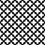Διανυσματικό άνευ ραφής σχέδιο, μαύρα & άσπρα κεραμίδια Στοκ Εικόνες