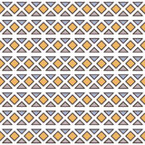 Διανυσματικό άνευ ραφής σχέδιο με τα γεωμετρικά στοιχεία Στοκ φωτογραφία με δικαίωμα ελεύθερης χρήσης