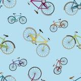 Διανυσματικό άνευ ραφής σχέδιο με τα ζωηρόχρωμα ποδήλατα Στοκ φωτογραφίες με δικαίωμα ελεύθερης χρήσης