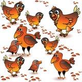 Διανυσματικό άνευ ραφής σχέδιο με τα πουλιά και ceeds Ελεύθερη απεικόνιση δικαιώματος