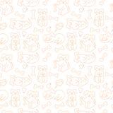 Διανυσματικό άνευ ραφής σχέδιο με τα σκυλιά doodle Στοκ φωτογραφία με δικαίωμα ελεύθερης χρήσης