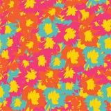 Διανυσματικό άνευ ραφής σχέδιο με τα τροπικά λουλούδια Λεπτομερή ζωηρόχρωμα γραφικά βοτανικά στοιχεία Στοκ Φωτογραφίες