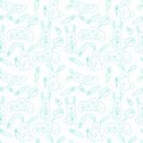 Διανυσματικό άνευ ραφής σχέδιο με τα χαριτωμένα κουνέλια Στοκ εικόνες με δικαίωμα ελεύθερης χρήσης