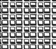 Διανυσματικό άνευ ραφής σχέδιο με τα rhombuses Αφηρημένο υπόβαθρο που γίνεται χρησιμοποίηση των κηλίδων βουρτσών Μονοχρωματική συ Στοκ Εικόνες