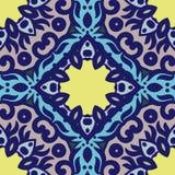 Διανυσματικό άνευ ραφής σχέδιο με τη φωτεινή διακόσμηση Κεραμίδι στο ανατολικό ύφος Στοκ Εικόνα