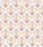 Διανυσματικό άνευ ραφής σχέδιο με τη χρυσή διακόσμηση Εκλεκτής ποιότητας άνευ ραφής λ Στοκ Εικόνες
