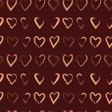 Διανυσματικό άνευ ραφής σχέδιο με τις καρδιές βουρτσών Στοκ φωτογραφία με δικαίωμα ελεύθερης χρήσης
