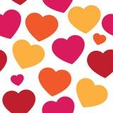 Διανυσματικό άνευ ραφής σχέδιο με τις καρδιές χρωμάτων χεριών απεικόνιση αποθεμάτων