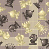 Διανυσματικό άνευ ραφής σχέδιο με το κομμάτι σκακιού Στοκ Εικόνα